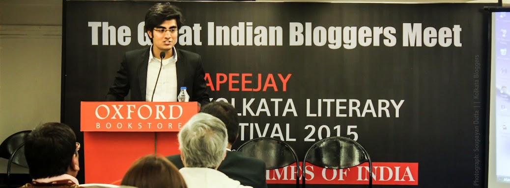 Anirban Saha, AKLF2015, Kolkata Literary Festival, Apeejay Kolkata Literary Festival, The Times of India, Kolkata Bloggers
