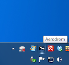 Aerdrom AirPlay icon visible in the Windows tray