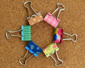 washi tape binder clips photo
