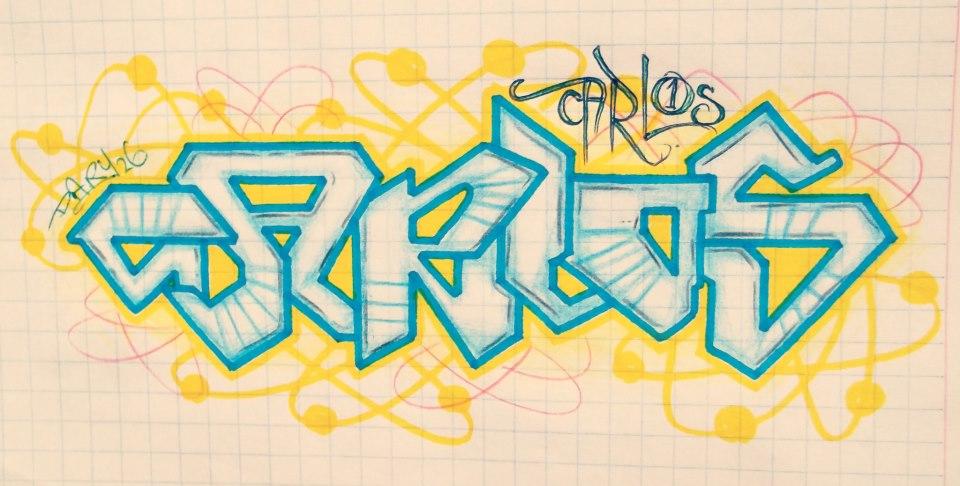 Imagenes de graffitis con el nombre de carlos - Imagui