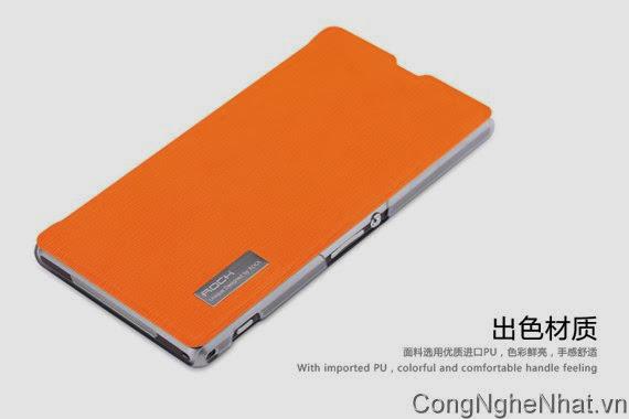 Bao da Sony Xperia Z1 (SO-01F) hiệu Rock