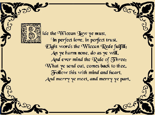 The Wiccan Rede Image