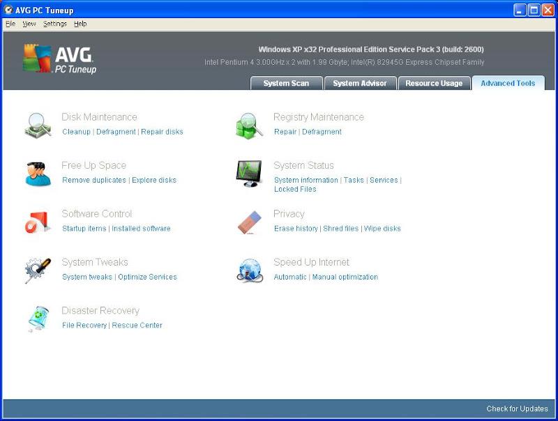 AVG PC Tuneup 2012 10.0.0.26 - Chăm sóc, tối ưu hóa máy tính toàn diện