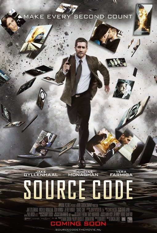 Poster Of Source Code (2011) Full Movie Hindi Dubbed Free Download Watch Online At Alldownloads4u.Com