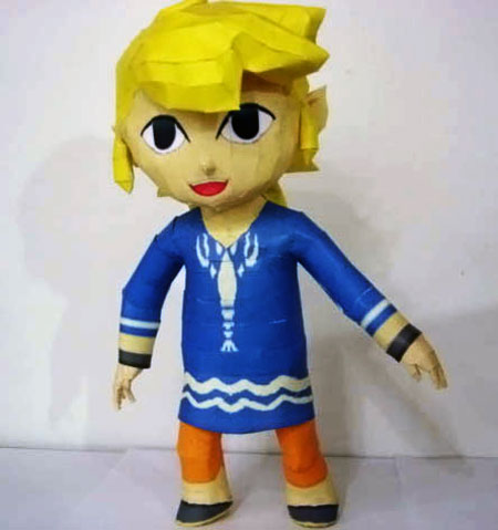The Wind Waker Outset Island Link Papercraft