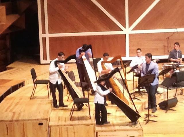 Alumnos destacados de la Cátedra de Arpa del Conservatorio Simón Bolívar