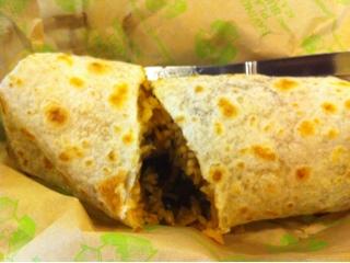 Burrito from Baja Fresh
