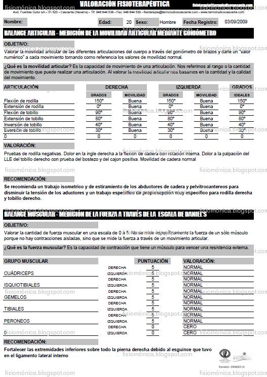 FISIOMÓNICA: Diagnóstico Fisioterapéutico: Historias Clínicas ...