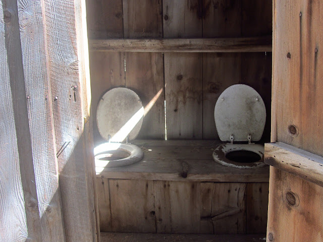 two seater pit toilet