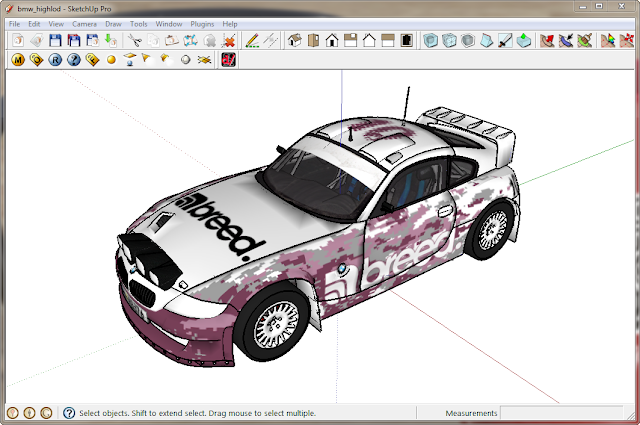 SketchUp - 3dSimED Sim Editor v2.17a with SketchUp Import & Export Bmw01