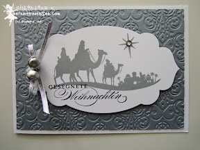 case a christmas card, stampin up, come to bethlehem, prägeform brokat, wunderbare weihnachtsgrüße