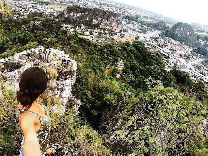 Núi Ngũ Hành Sơn nhìn từ trên cao - Ảnh sưu tầm