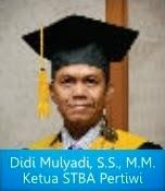 ketua stba pertiwi didi mulyadi