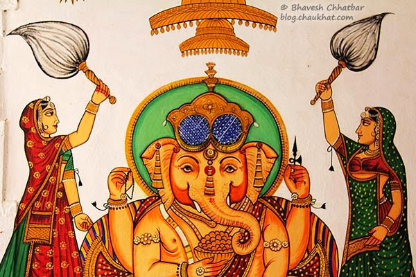 Wall painting of Lord Ganesha