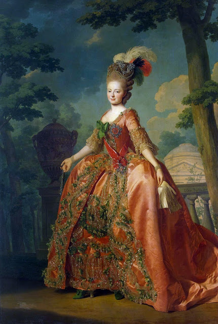Alexander Roslin - Portrait of Grand Duchess Maria Fiodorovna (at the age of 18)