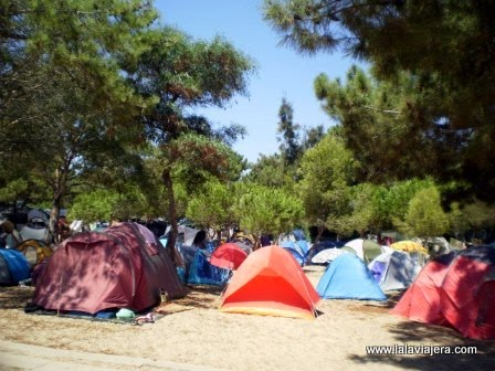Zona de acampada en Ilha Tavira, Algarve