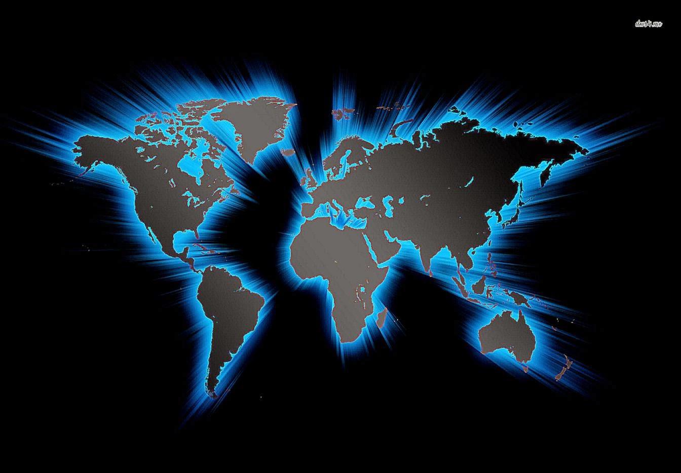 creative digital art 3d world map globe wallpaper