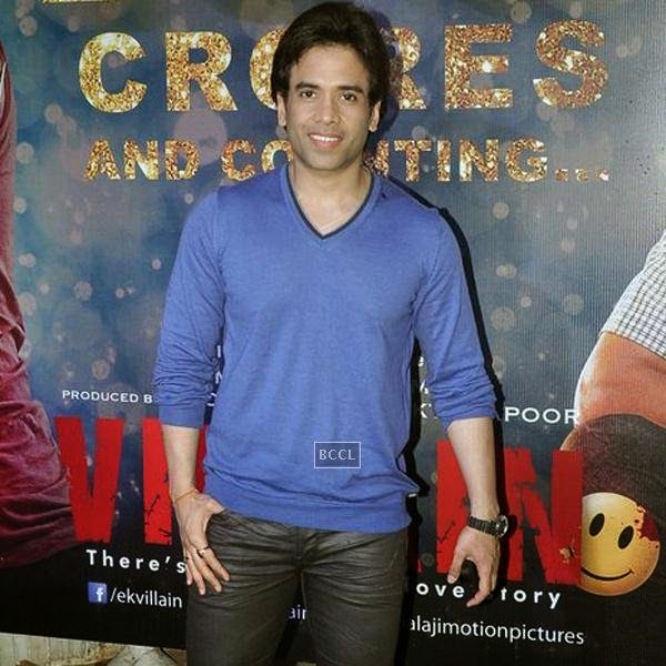Tusshar Kapoor during the success party of Bollywood movie 'Ek Villain', held at Ekta Kapoor's residence on July 15, 2014.(Pic: Viral Bhayani)