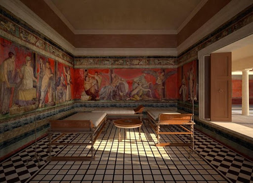 El Triclinium De La Villa De Los Misterios De Pompeya Mucho Mas