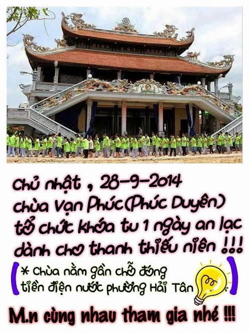 Khóa tu an lạc một ngày tại chùa Vạn Phúc8