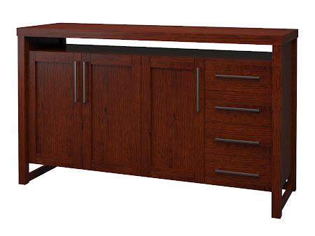 Sumatra Credenza in Michigan Quarter Sawn Oak