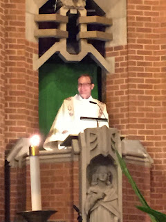 Delivering his first homily - very well done!