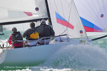 J/70 sailing Key West- Dave Ullman- Ullman Sails- photo- Sharon Green/ Ultimate Sailing.com