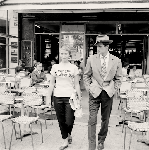 Jean Seberg and Jean-Paul Belmondo in À Bout de Souffle (Breathless 1960)