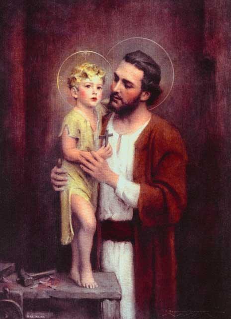 Prière à Saint Joseph du Pape Léon XIII  92c_St_Joseph