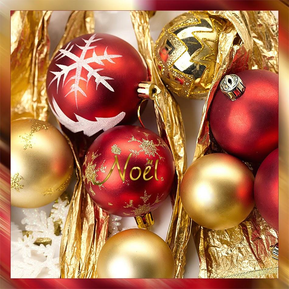 Testclod boules de no l rouge et or - Boule de noel rouge et blanche ...