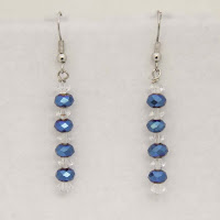 "Gleam - Blue and Clear crystals1 1/2""  $12"