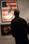Jordan takes in a work of art...the guitar that is