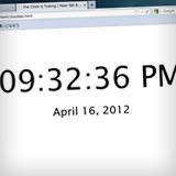 新しいタブにデジタル時計を表示する Big Clock Background 0.0.3