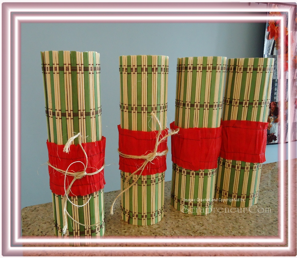 Placemat Flower Vase Eco Friendly Craft Idea Jinkys Crafts