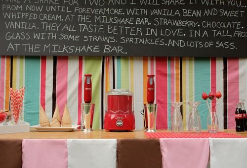 Unique Wedding Ideas: J+r: Party Inspiration {retro Milkshake Bar}