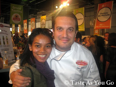With Chef Fabio Viviani from Season 5 of Top Chef at the Food Network New York City Wine & Food Festival Grand Tasting, Day 1 - Photo by Taste As You Go