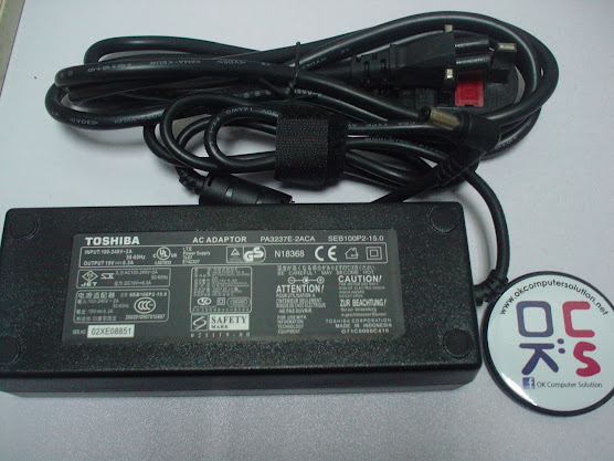 New Charger Adapter For Toshiba Satellite A60-S1591ST