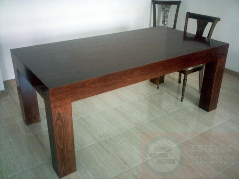 Las mejores mesas de comedor a medida en madrid - Mesa comedor nogal ...