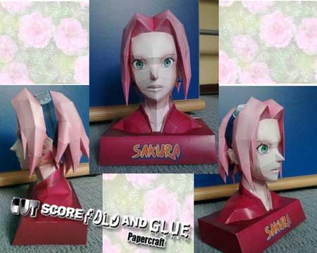 Naruto Sakura Bust Papercraft