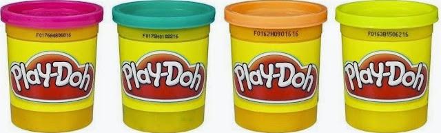 Bột nặn 4 màu Play-Doh Hồng Xanh Cam Vàng