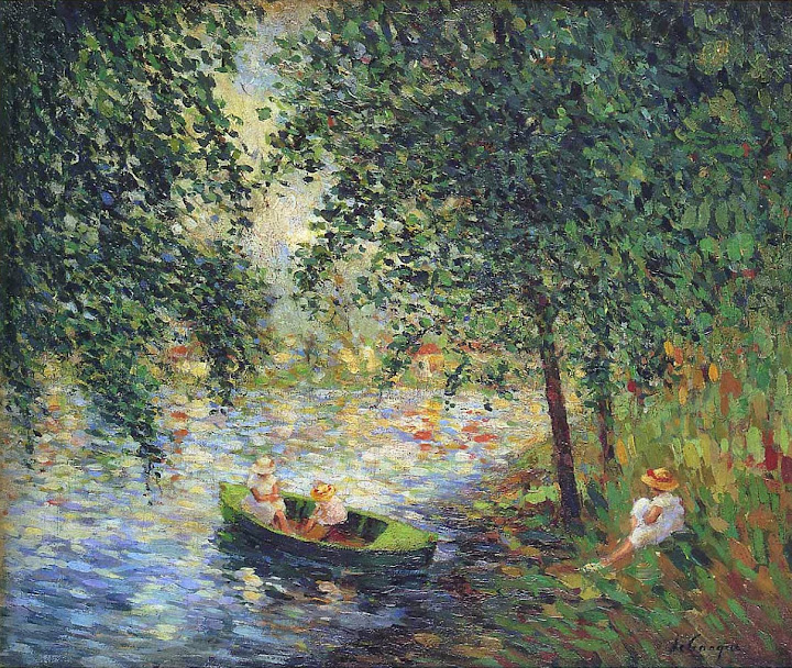 Henri Lebasque - Girls by the River-1905