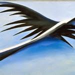 Abstracció blava, negra i blanca - G. O'Keeffe