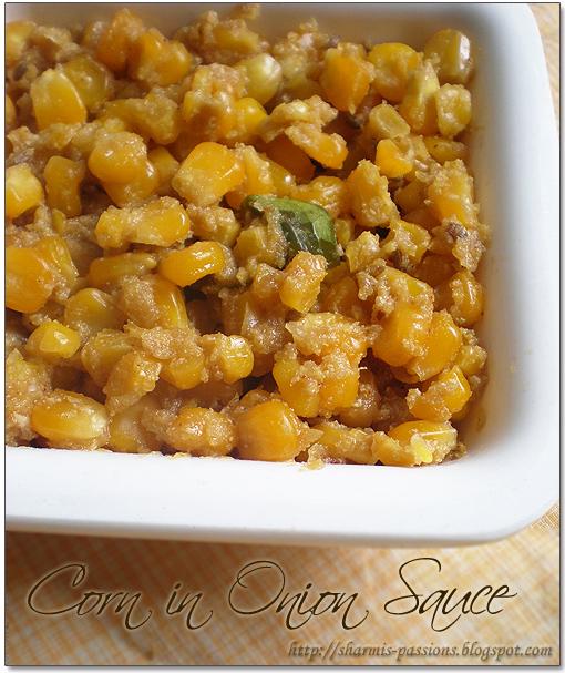 Corn in Onion Sauce