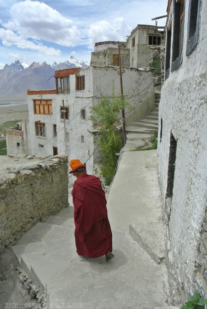 monje en Ladakh