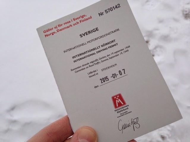 motormännen internationellt körkort