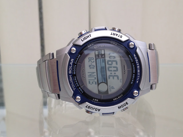 Details about CASIO TOUGH SOLAR GENTS BOYS TIDE GRAPH MOON PHASE ...