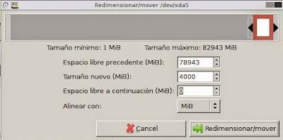 Ampliar partición raíz de máquina virtual Linux y partición swap con GParted