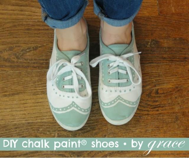 Pintando zapatos con la chalk paint la c moda encantada - Barniz para chalk paint ...