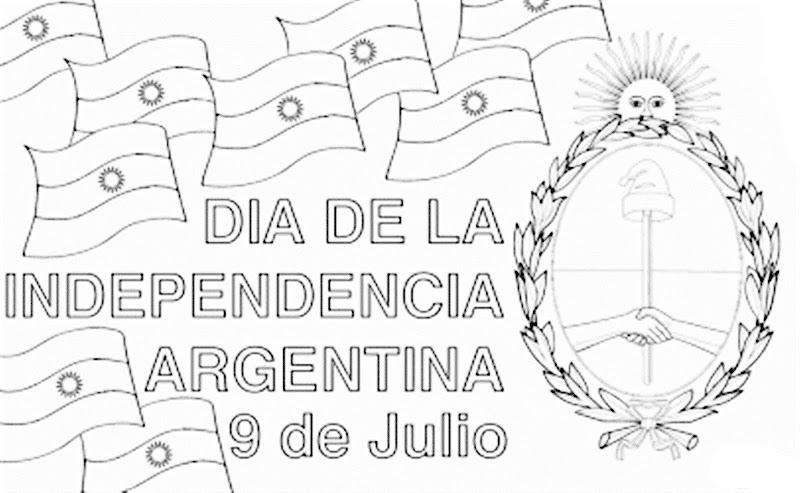 Dibujo del Día de la Independencia de Argentina 9 de Julio para colorear
