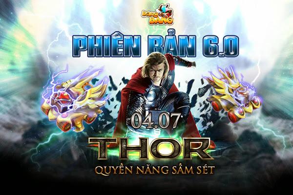 Thần sấm Thor xuất hiện trong BangBang Online 2